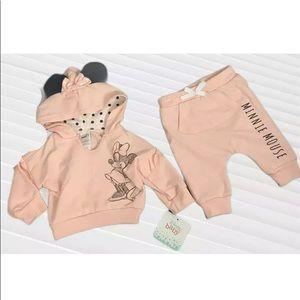 Disney Baby Girls Minnie Mouse Jogging Suit 0-3 M
